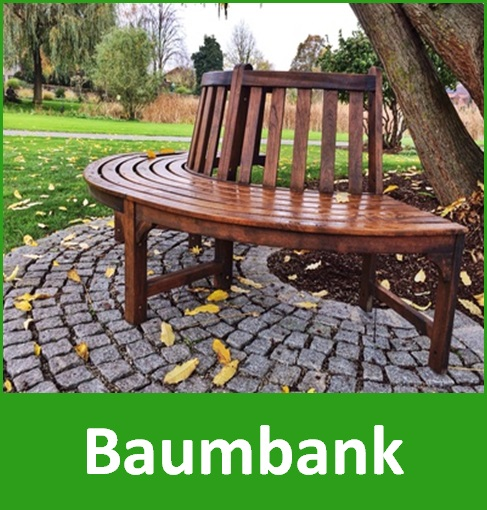 baumbank miniatur fertig gartenbank aus holz kaufen. Black Bedroom Furniture Sets. Home Design Ideas
